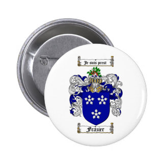 FRAZIER FAMILY CREST -  FRAZIER COAT OF ARMS BUTTON