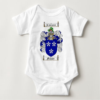 FRAZIER FAMILY CREST -  FRAZIER COAT OF ARMS INFANT CREEPER