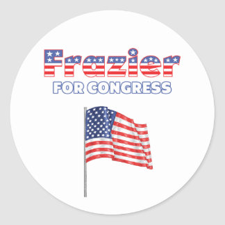 Frazier for Congress Patriotic American Flag Round Stickers