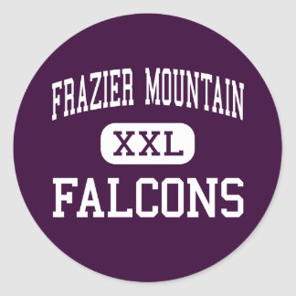 Frazier Mountain - Falcons - High - Lebec Round Sticker