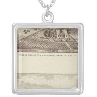 Frazier Valley, Lakeside ranches Square Pendant Necklace