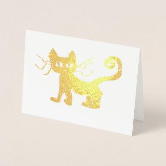 "Frazzle Kitty Foil Card, Standard (5""x7"") Foil Card"