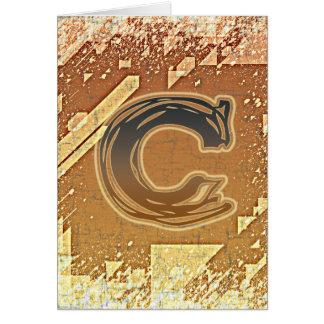 FRAZZLE MONOGRAM C CARD