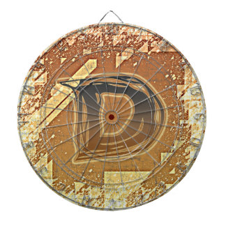 FRAZZLE MONOGRAM D DARTBOARD WITH DARTS