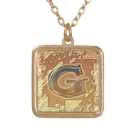 FRAZZLE MONOGRAM G GOLD PLATED NECKLACE