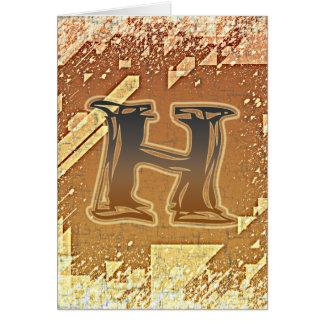 FRAZZLE MONOGRAM H CARD