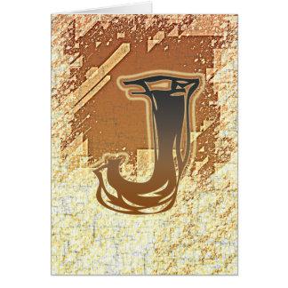 FRAZZLE MONOGRAM J CARD