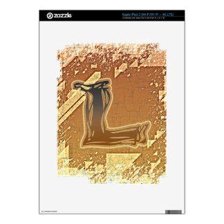 FRAZZLE MONOGRAM L DECAL FOR iPad 3