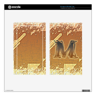 FRAZZLE MONOGRAM M DECAL FOR KINDLE FIRE