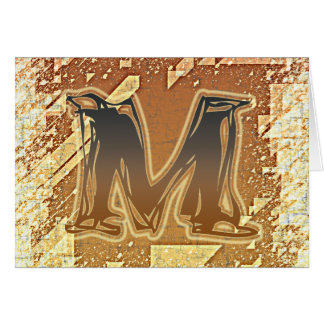 FRAZZLE MONOGRAM M STATIONERY NOTE CARD