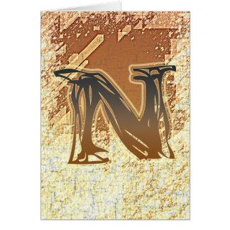 FRAZZLE MONOGRAM N CARD