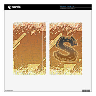 FRAZZLE MONOGRAM S DECAL FOR KINDLE FIRE