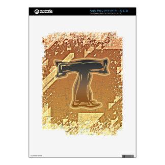 FRAZZLE MONOGRAM T DECAL FOR iPad 3