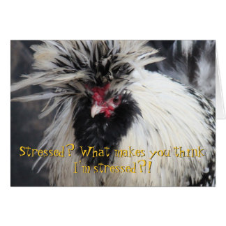 Frazzled Chicken Greeting Card