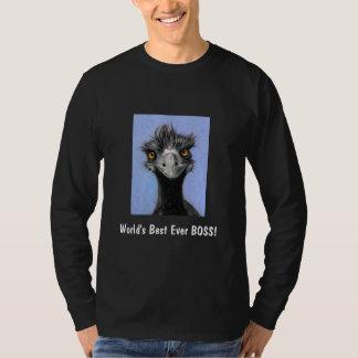 Frazzled Emu: Art: World's Best Ever BOSS! T-Shirt
