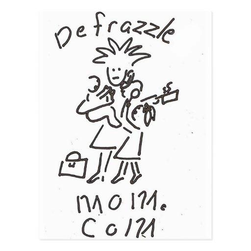 Frazzled Mom Postcard