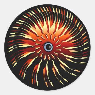 Frazzlehead Classic Round Sticker