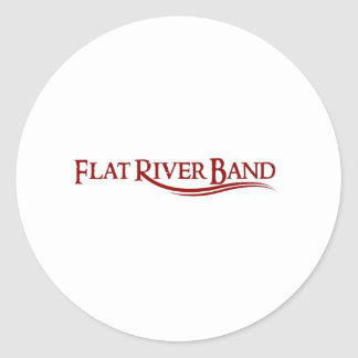 frb tshirt  red font classic round sticker