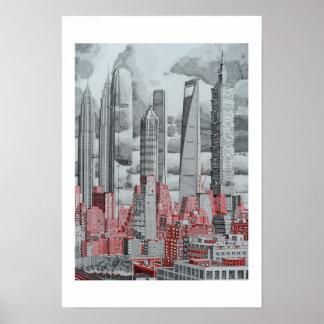 FRdesign Skyscrapers Art Poster