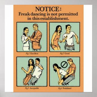 Freak Dance Not Allowed Poster