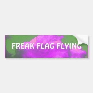 Freak Flag Flying Bumper Sticker Car Bumper Sticker
