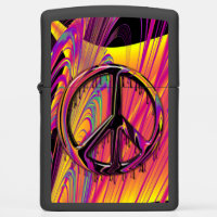 Freak Flag Psychedelic Hippy Couture Zippo Lighter