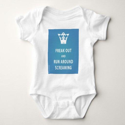 Freak hacia fuera y corra alrededor del griterío body para bebé