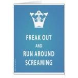 Freak hacia fuera y corra alrededor del griterío ( felicitacion