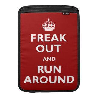Freak hacia fuera y corra alrededor fundas para macbook air