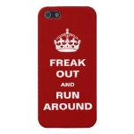 Freak hacia fuera y corra alrededor iPhone 5 fundas