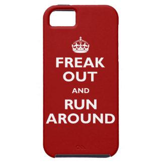 Freak hacia fuera y corra alrededor funda para iPhone 5 tough
