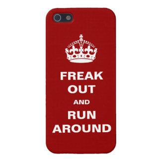 Freak hacia fuera y corra alrededor iPhone 5 carcasas