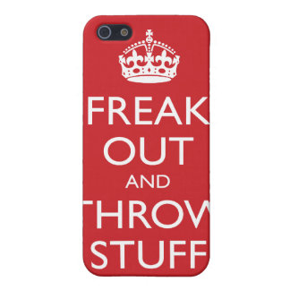 Freak hacia fuera y lance la materia (el rojo clás iPhone 5 funda