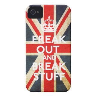 Freak hacia fuera y rompa la caja de la casamata iPhone 4 coberturas