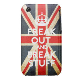 Freak hacia fuera y rompa la caja de la casamata Case-Mate iPhone 3 protector