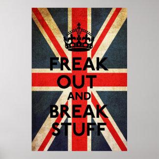 Freak hacia fuera y rompa la impresión de la póster