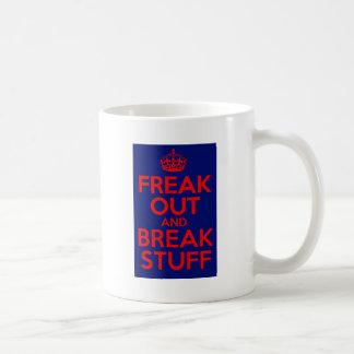 freak hacia fuera y rompa la materia taza básica blanca