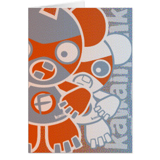 Freak Mascot Greeting Card