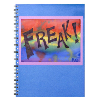 FREAK! Notebook with borders