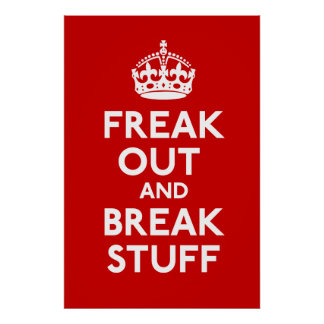 Freak Out And Break Stuff Parody Print