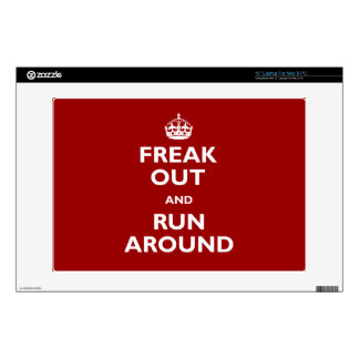 """Freak Out and Run Around 13"""" Laptop Decals"""