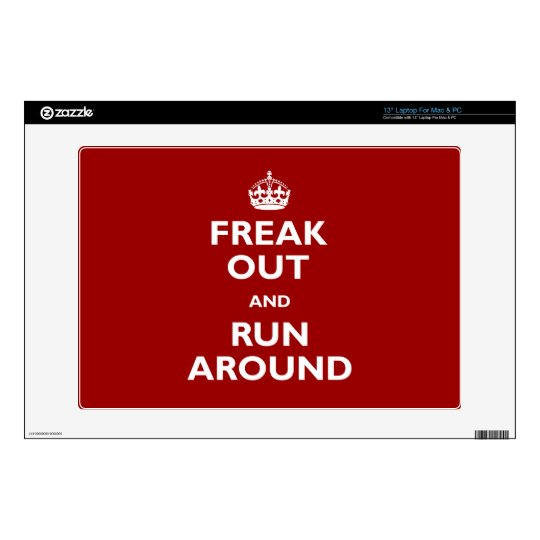 "Freak Out and Run Around 13"" Laptop Decals"