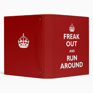 Freak Out and Run Around Vinyl Binders