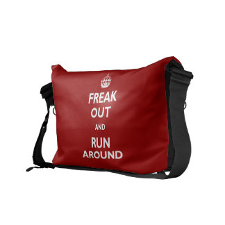Freak Out and Run Around Courier Bag