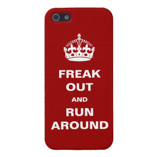 Freak Out and Run Around Cover For iPhone SE/5/5s