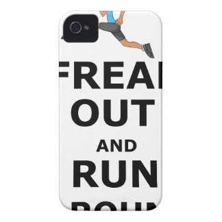 Freak Out And Run Around, funny scared girl design Case-Mate iPhone 4 Case