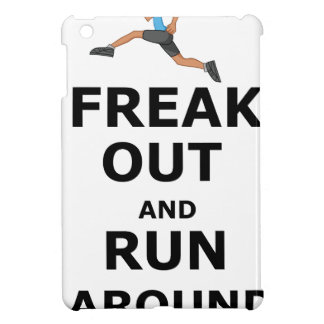 Freak Out And Run Around, funny scared girl design Cover For The iPad Mini