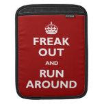 Freak Out and Run Around iPad Sleeve