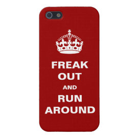 Freak Out and Run Around iPhone 5 Cover