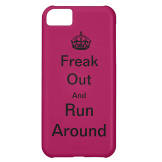 Freak Out And Run Around iPhone 5C Cases